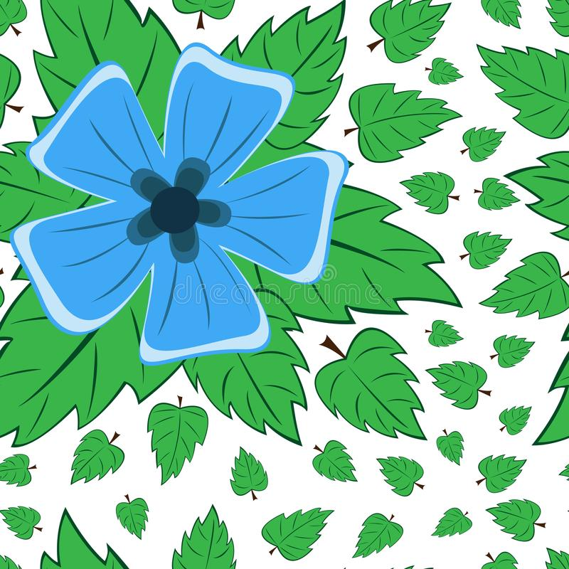 Modèle sans couture de vecteur rétro, fleurs Peut être employé pour le fond de page Web, remplit dessins, papiers peints, surface illustration de vecteur