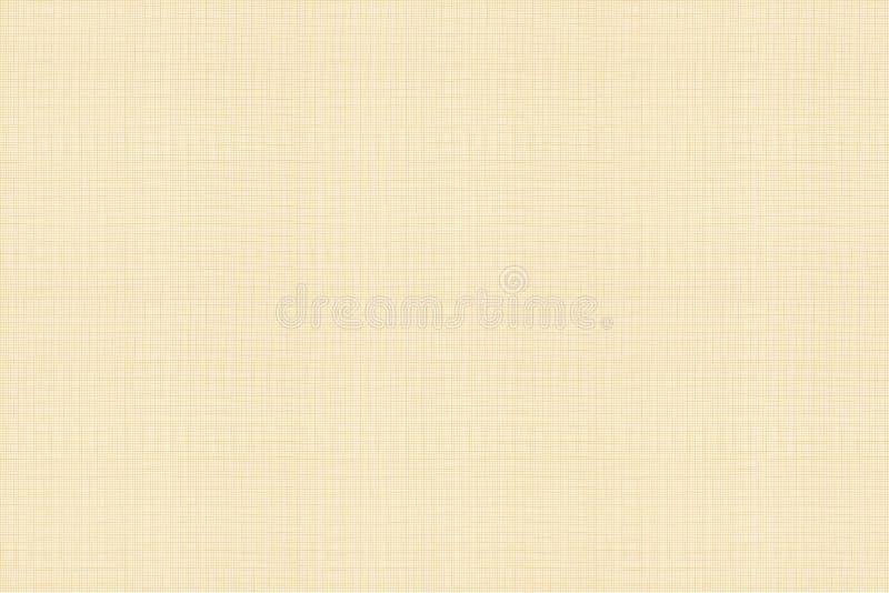 Modèle sans couture de vecteur, texture de toile de coton, couleur chaude légère illustration libre de droits