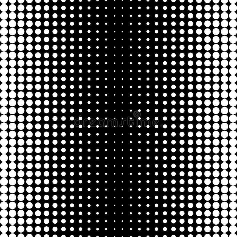 Modèle sans couture de vecteur, transition d'image tramée de cercles illustration stock
