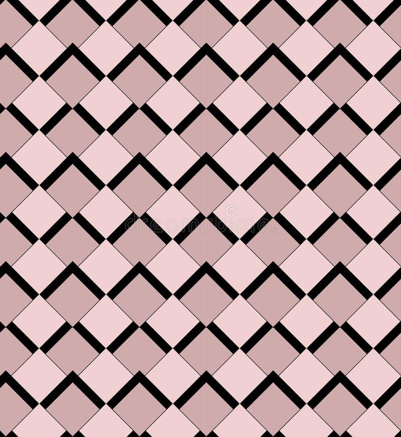 Modèle sans couture de vecteur de wallpeper de rose et de places noires illustration de vecteur
