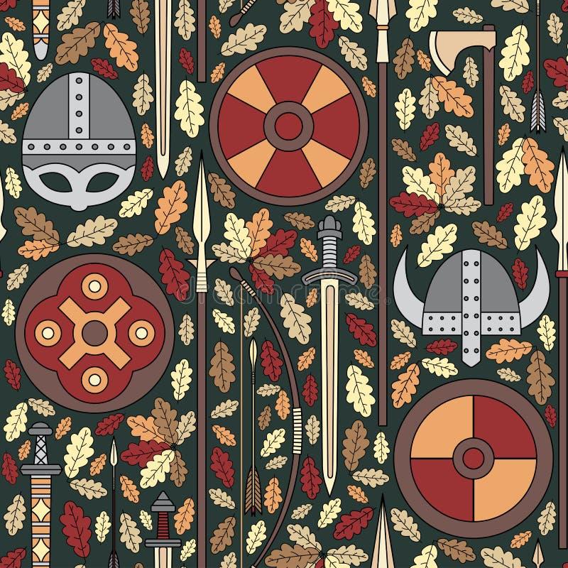 Modèle sans couture 05 de Viking illustration de vecteur