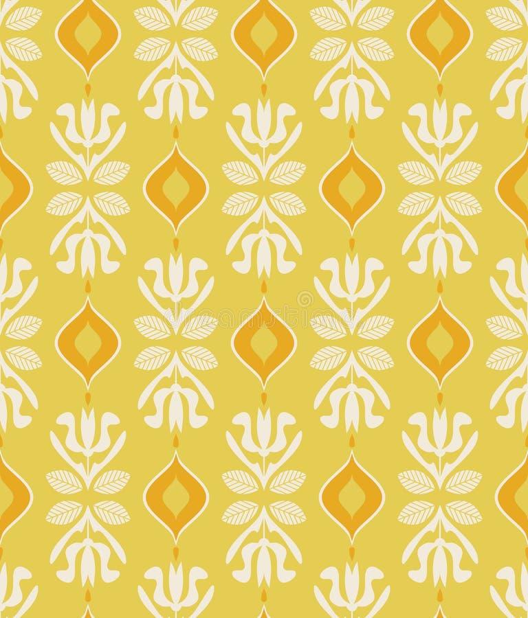 Modèle sans couture de vintage avec les éléments floraux illustration libre de droits