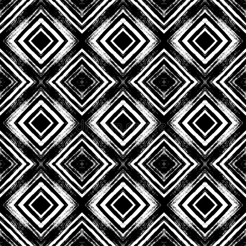 Modèle sans couture de vintage avec les lignes balayées illustration libre de droits
