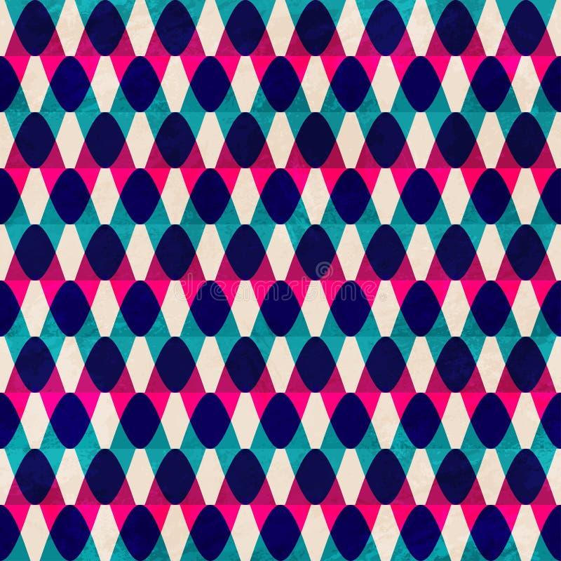 Modèle sans couture de vintage de zigzag illustration libre de droits
