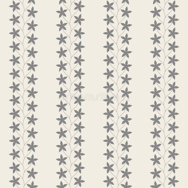 Modèle sans couture de vintage floral illustration stock