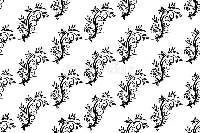 Modèle sans couture de vintage sur un fond blanc de illustration stock