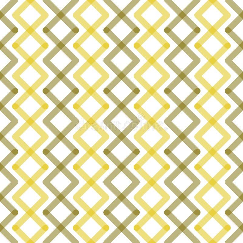 Modèle sans couture de Zig Zag de places jaunes illustration de vecteur