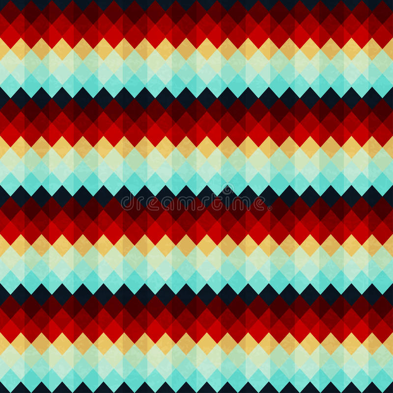 Modèle sans couture de zigzag de vintage illustration stock