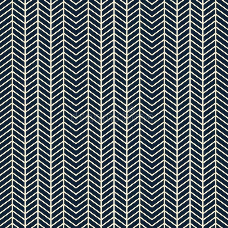 Modèle sans couture de zigzag géométrique - collections, papier peint et milieux de conception de tissu illustration de vecteur