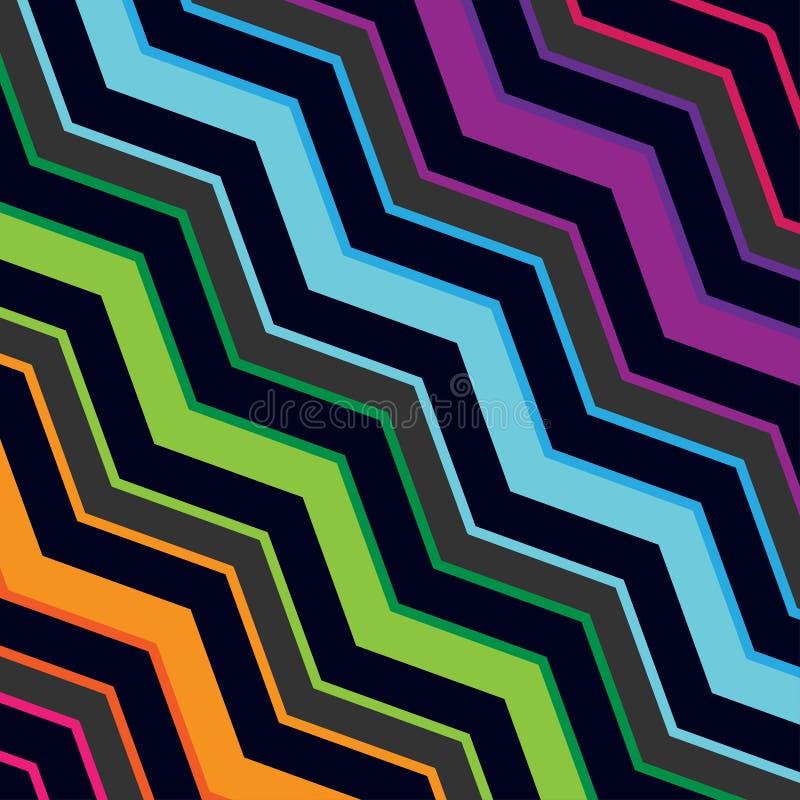 Modèle sans couture de zigzag géométrique coloré illustration de vecteur