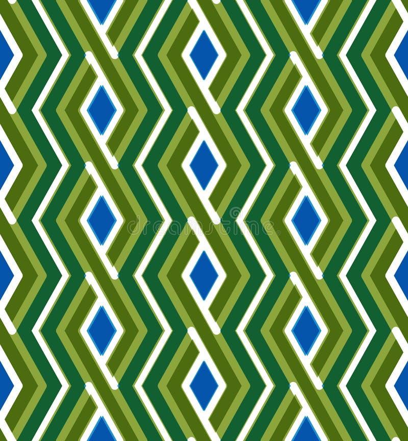 Modèle sans couture de zigzag géométrique coloré, VE sans fin symétrique illustration stock