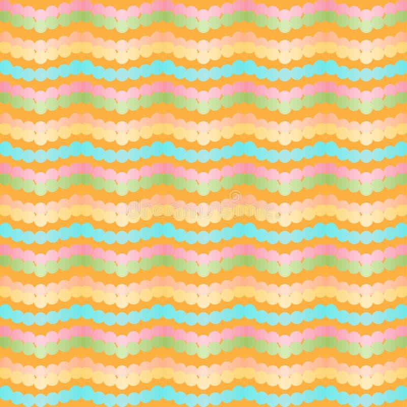 Modèle sans couture de zigzag stylisé de chevron Rayures colorées géométriques de gradient illustration libre de droits