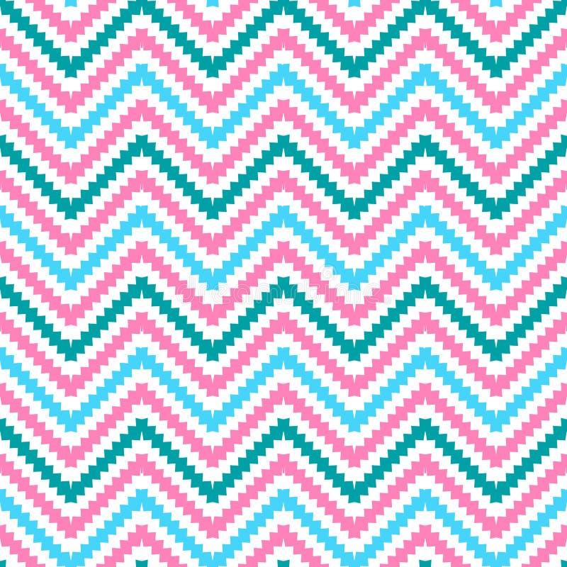Modèle sans couture de zigzag tribal mignon Vecteur illustration libre de droits