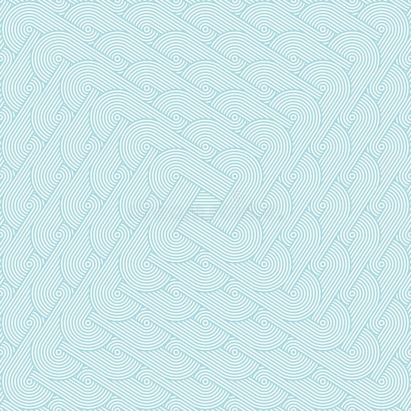 Modèle sans couture dense avec répéter des rangées des cercles concentriques illustration de vecteur