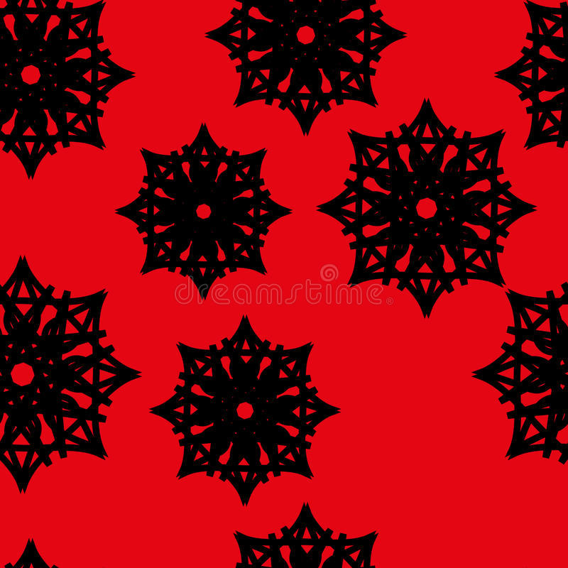 Modèle sans couture des étoiles et des flocons de neige illustration stock