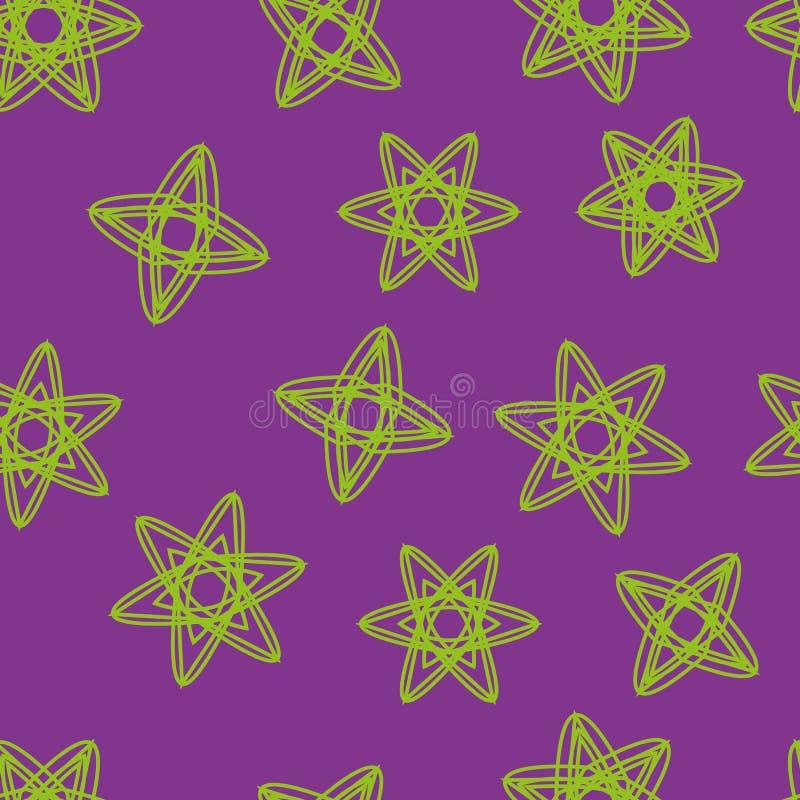 Modèle sans couture des étoiles et des flocons de neige illustration libre de droits