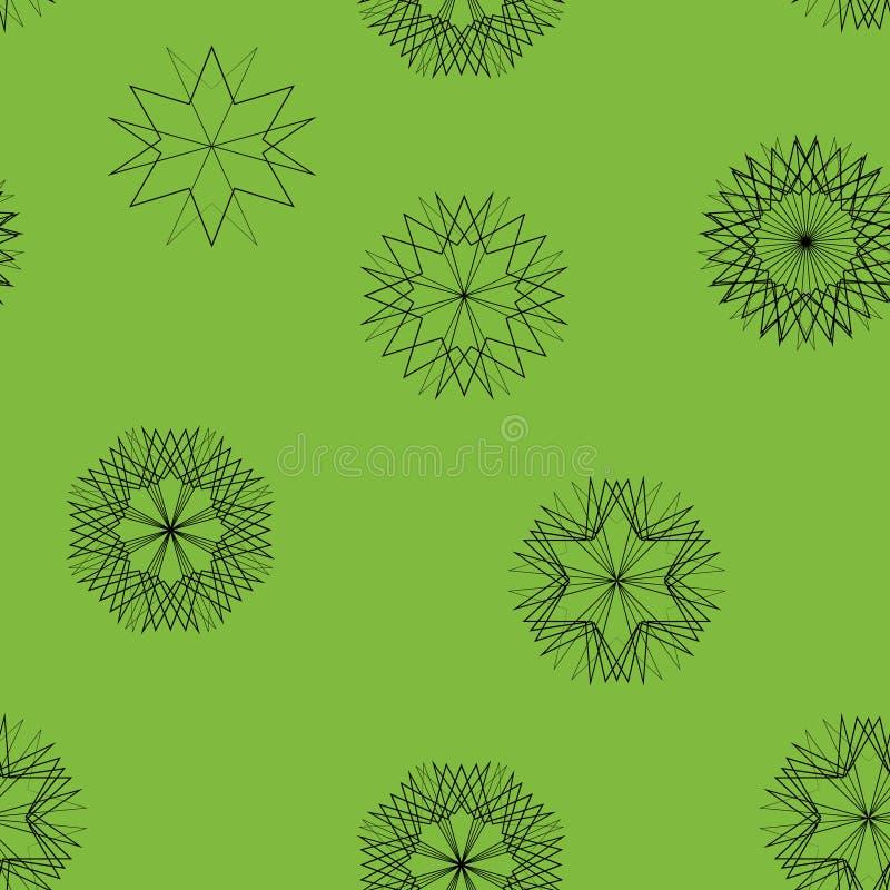 Modèle sans couture des étoiles et des fleurs illustration stock