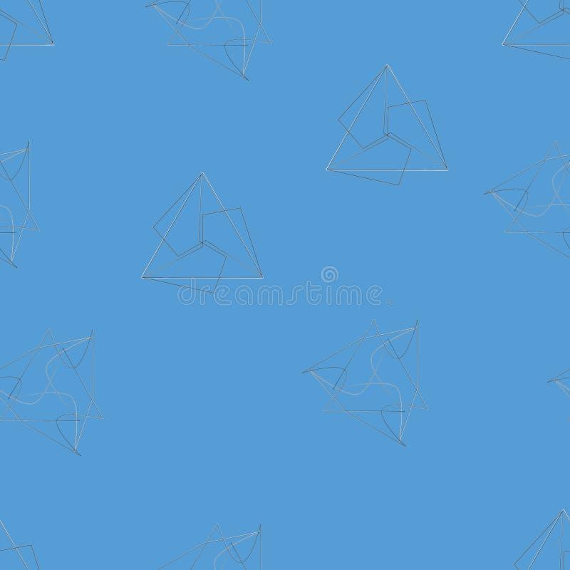 Modèle sans couture des étoiles et des fleurs illustration de vecteur