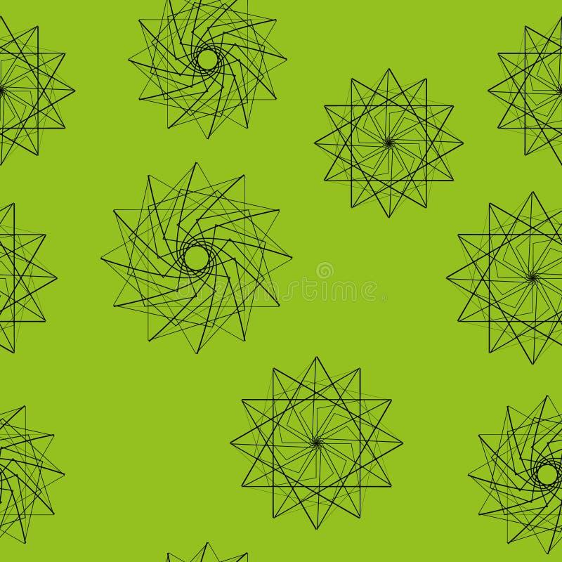 Modèle sans couture des étoiles et des fleurs illustration libre de droits