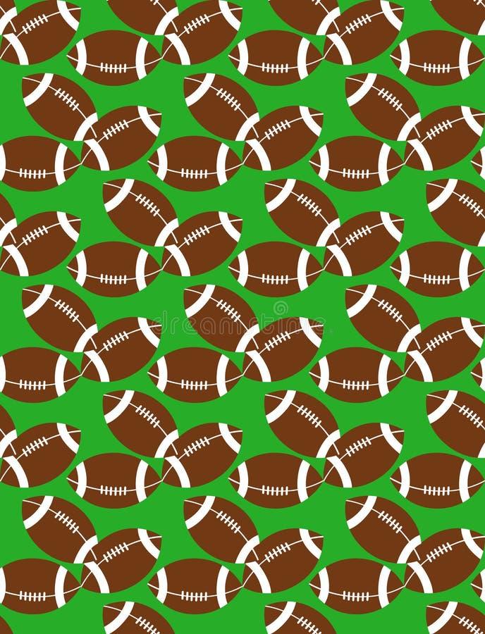 Modèle sans couture des boules de football américain sur l'herbe illustration libre de droits