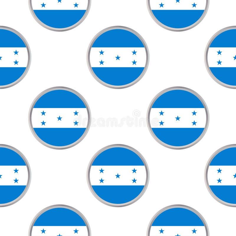 Modèle sans couture des cercles avec le drapeau du Honduras illustration stock
