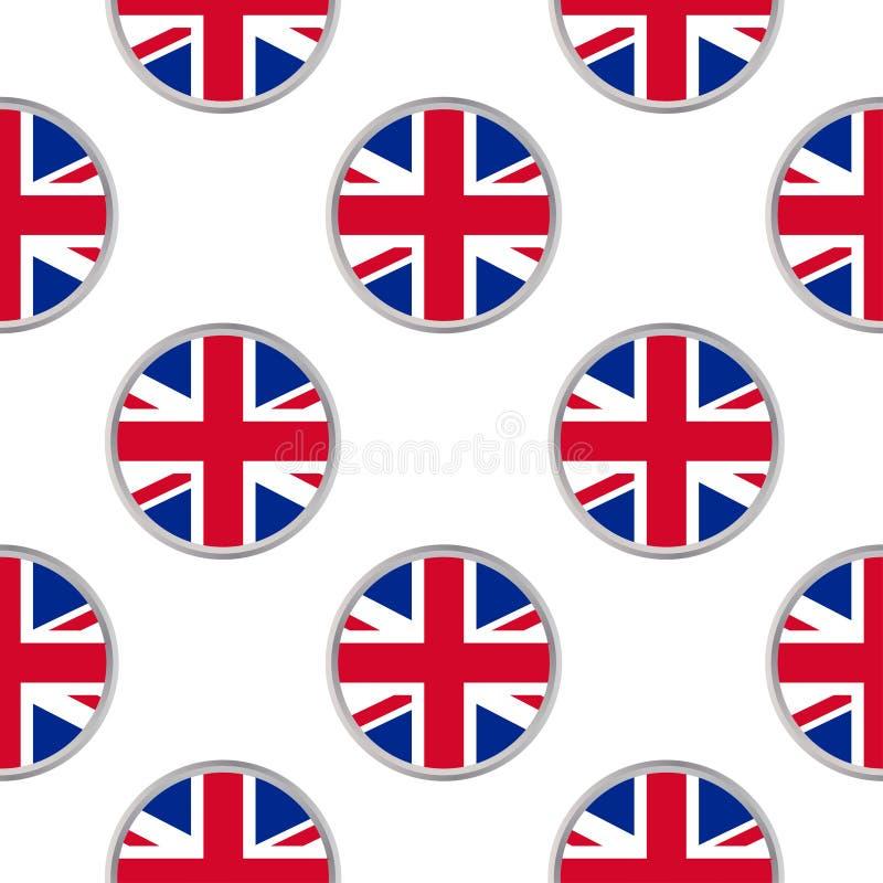 Modèle sans couture des cercles avec le drapeau du Royaume-Uni illustration libre de droits