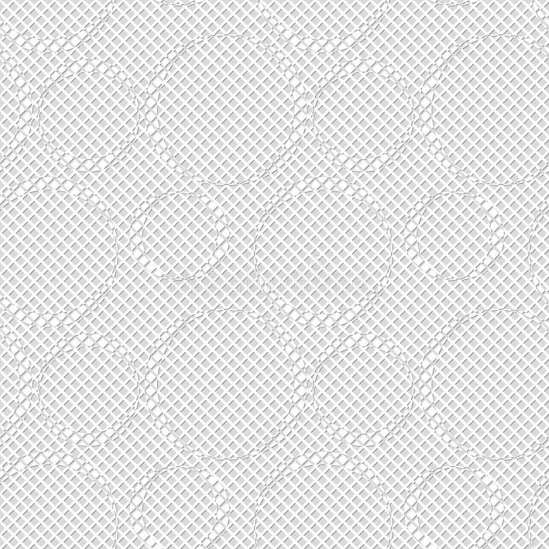Modèle sans couture des cercles et des losanges Fond géométrique illustration libre de droits