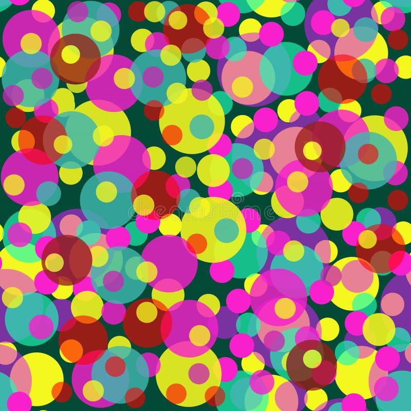 Modèle sans couture des cercles translucides multicolores illustration libre de droits