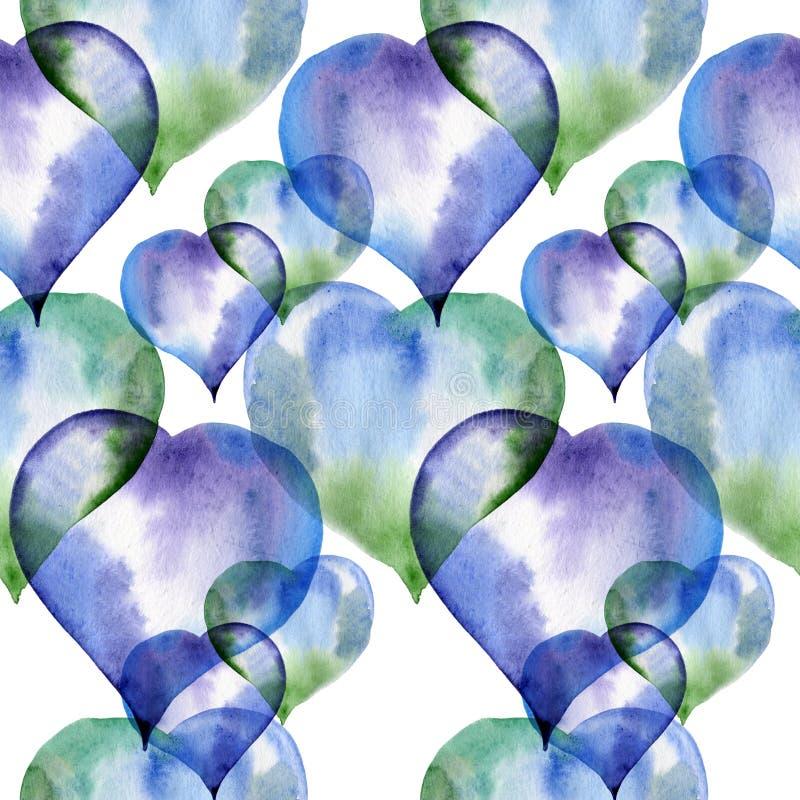 Download Modèle Sans Couture Des Coeurs Bleus Et Verts Illustration Stock - Illustration du couleur, vieux: 77157985