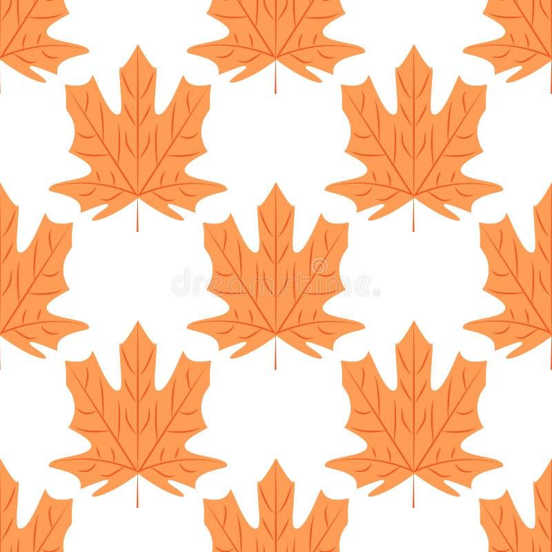 Modèle sans couture des feuilles d'érable Illustration de vecteur illustration de vecteur
