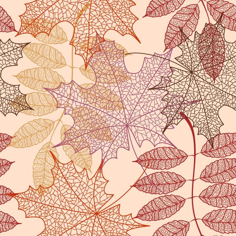 Modèle sans couture des feuilles d'automne illustration stock