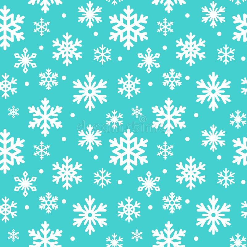 Modèle sans couture des flocons de neige d'hiver, fond de vecteur Texture répétée, surface, papier d'emballage Neige bleue mignon illustration stock