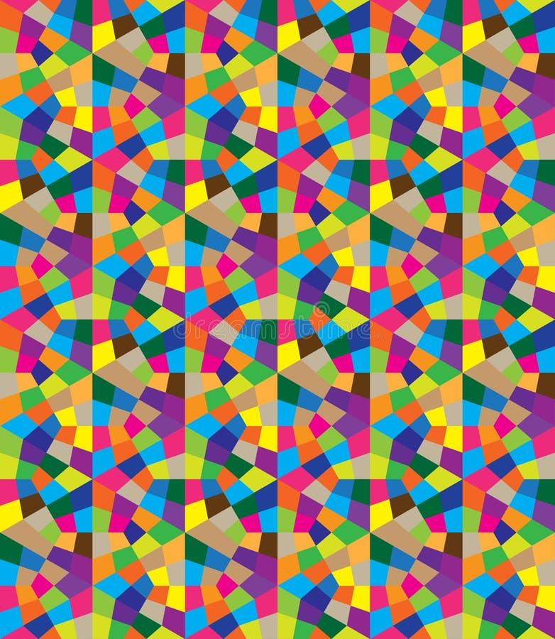 Modèle sans couture des formes géométriques Texture des polygones illustration stock