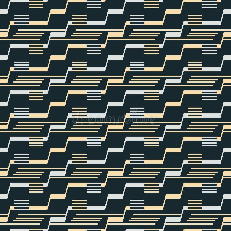 Modèle sans couture des lignes d'étape d'escalier et des segments parallèles illustration libre de droits