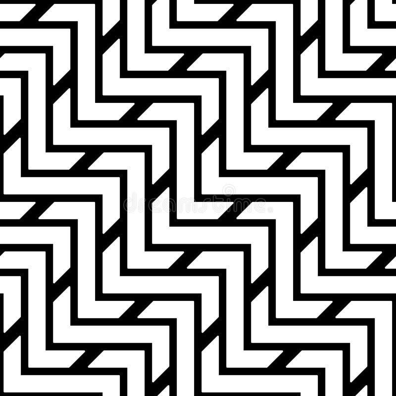 Modèle sans couture des lignes de zigzag Fond géométrique illustration libre de droits