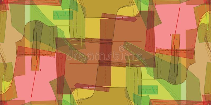 Modèle sans couture des modèles colorés à coudre Fond abstrait de couture illustration de vecteur