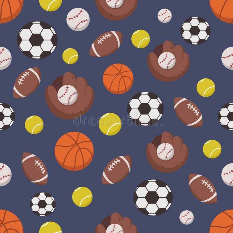 Modèle sans couture des objets de sport illustration libre de droits