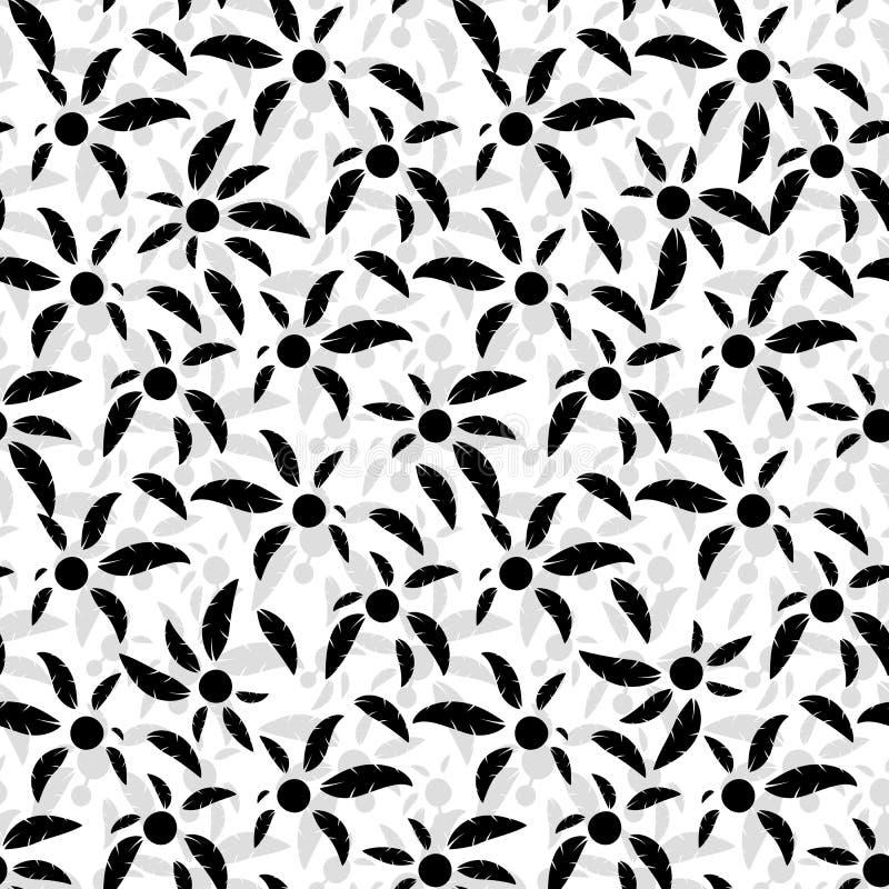 Modèle sans couture des palmiers noirs illustration libre de droits