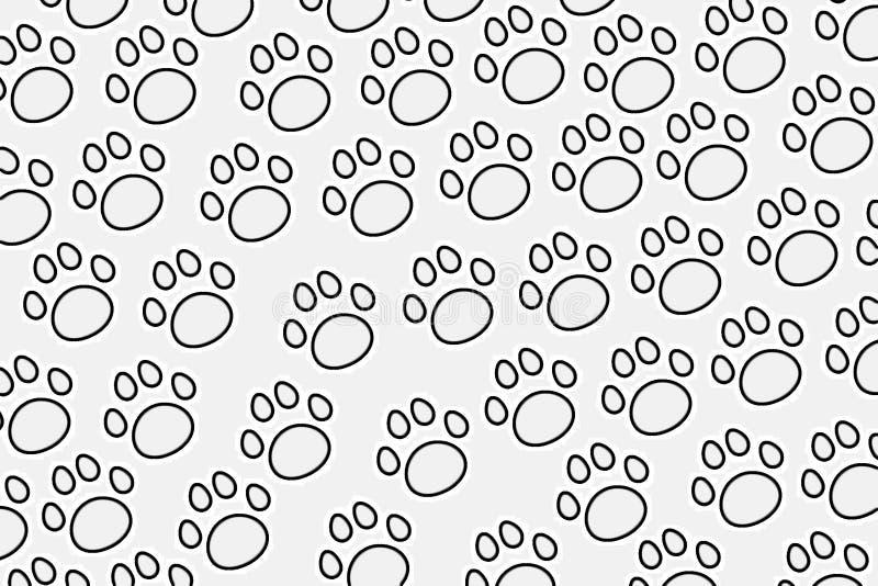 Modèle sans couture des pattes, empreintes de pas animales illustration, vecteur illustration stock