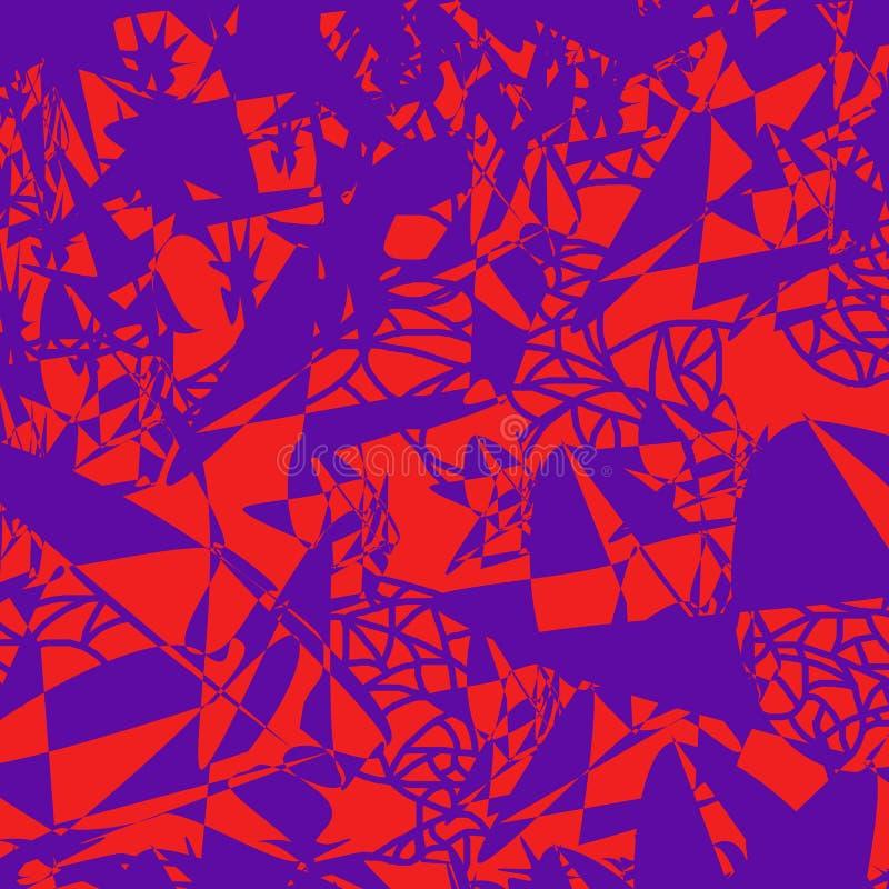 Modèle sans couture des taches et des lignes chaotiquement dispersées illustration stock