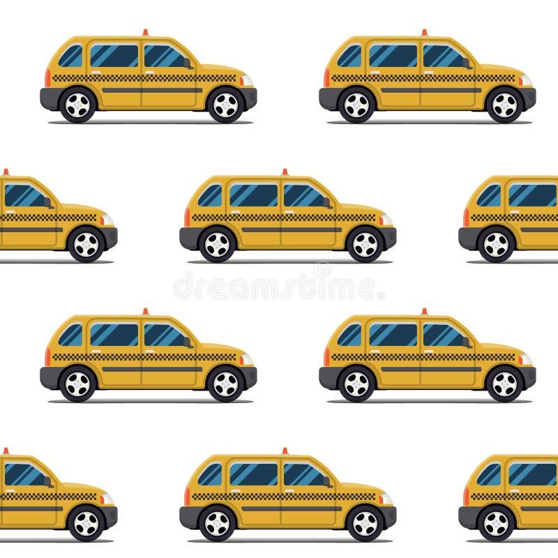 Modèle sans couture des taxis jaunes illustration libre de droits