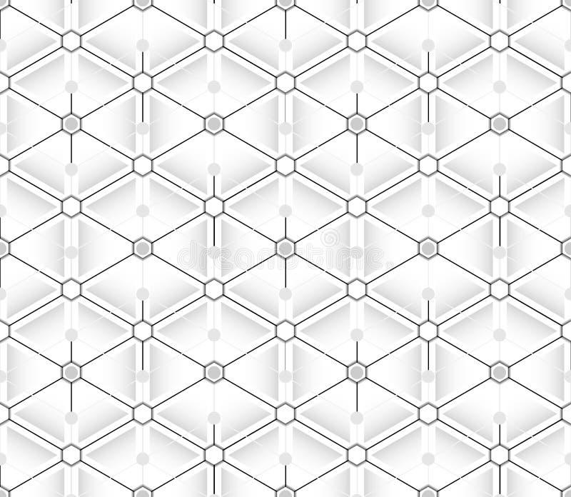 Modèle sans couture des triangles et des hexagones illustration stock