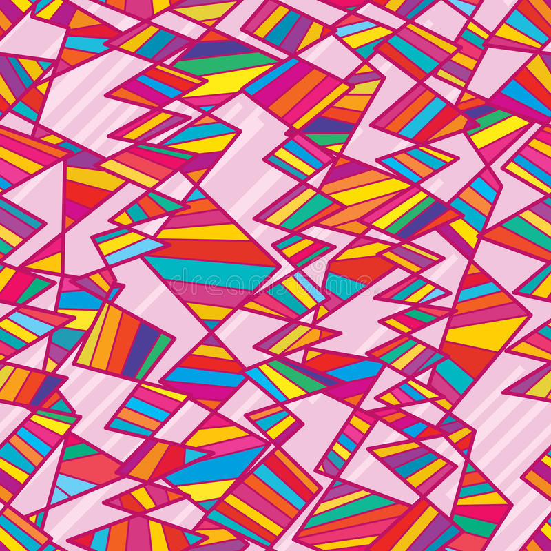 Modèle sans couture diagonal coloré vertical tribal illustration libre de droits