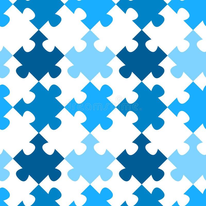 Modèle sans couture diagonal de puzzle denteux illustration de vecteur