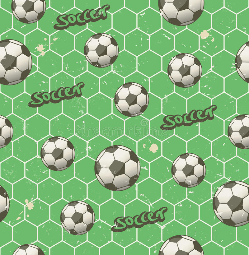 Modèle sans couture du football illustration libre de droits
