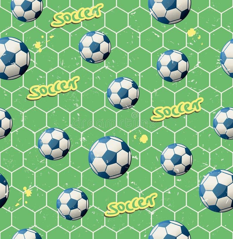Modèle sans couture du football illustration stock