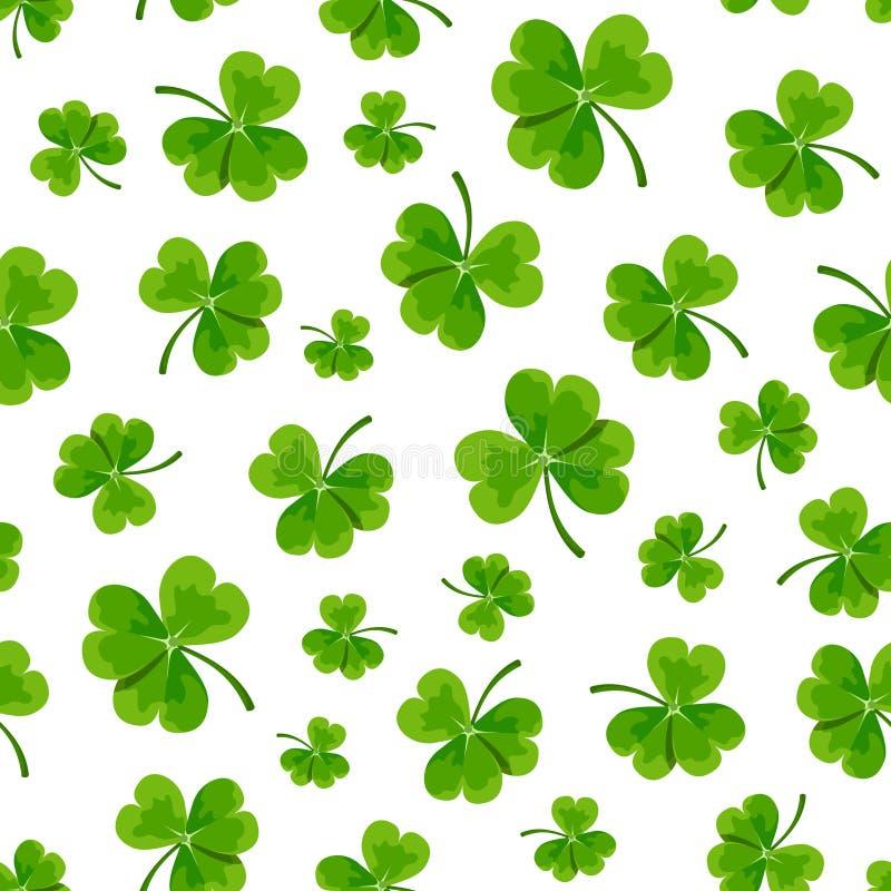 Modèle sans couture du jour de St Patrick avec l'oxalide petite oseille Illustration de vecteur illustration stock