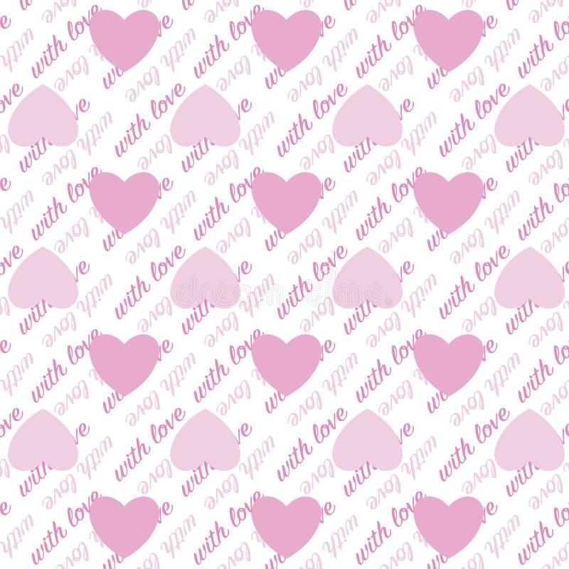 Modèle sans couture du jour de valentine d'amour illustration stock