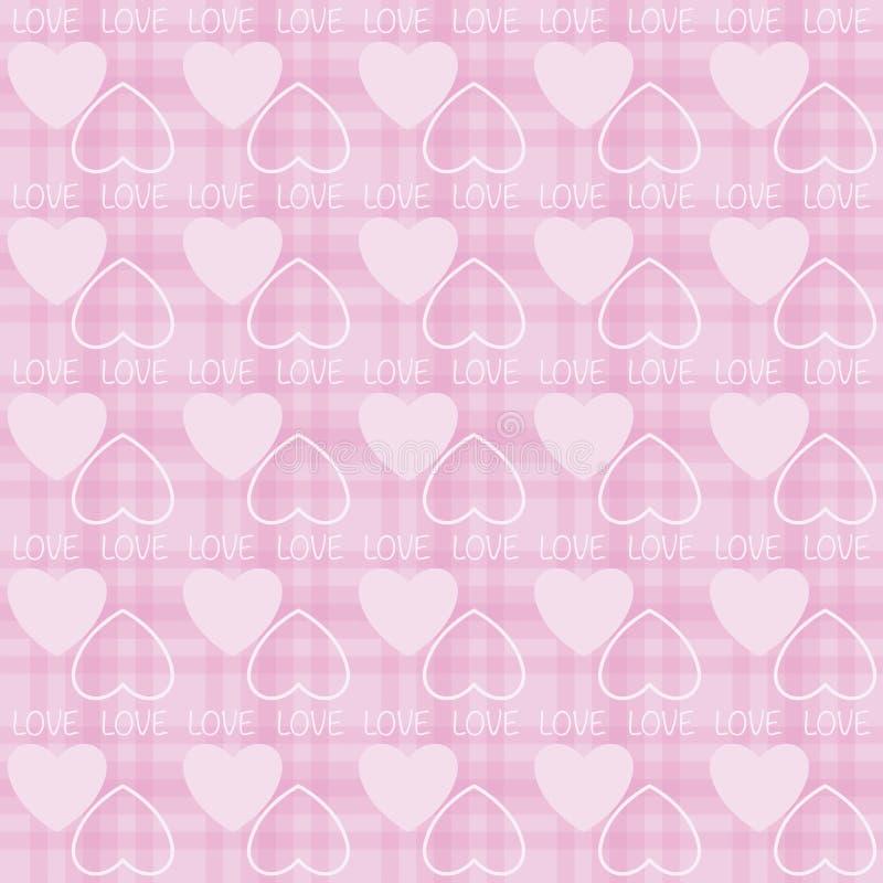 Modèle sans couture du jour de valentine d'amour de forme de coeur illustration de vecteur