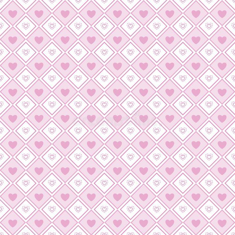Modèle sans couture du jour de valentine d'amour de forme de coeur illustration libre de droits